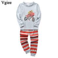Vgiee/детская одежда для мальчиков и девочек осенне-зимняя хлопковая одежда унисекс с рисунком Crtoon для детей, одежда для малышей Комплект для ...