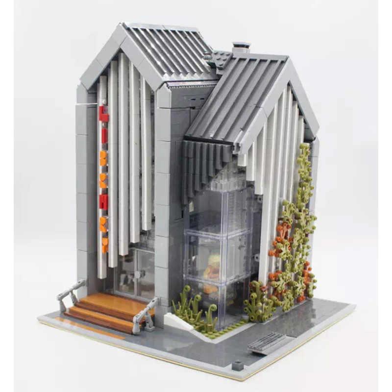 Die brickstive MOC Post Moderne Bibliothek streetview Modulare Modell Bausteine Ziegel Kinder Spielzeug Für kinder geschenke