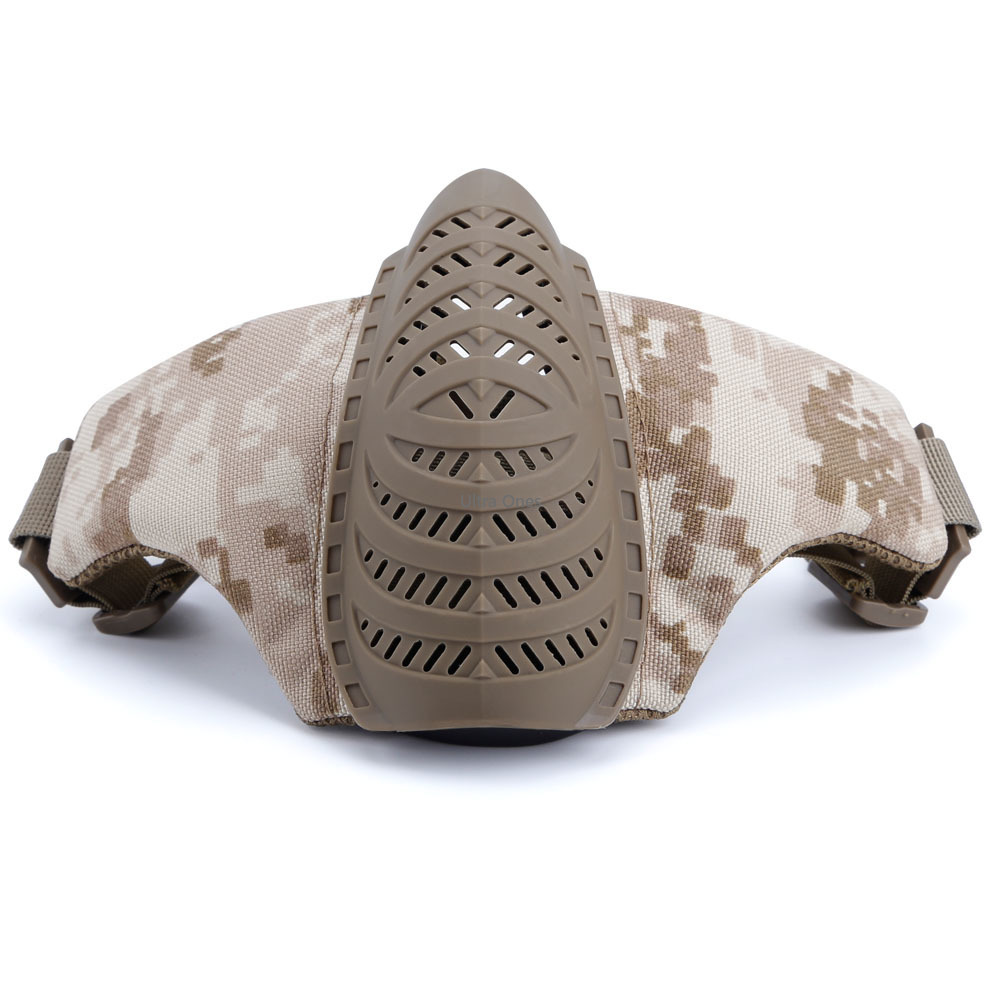 Airsoft Paintball Half Face Mask Camouflage Military Hunting Protective Mask Army Combat Shooting Paintball Accessory Masks