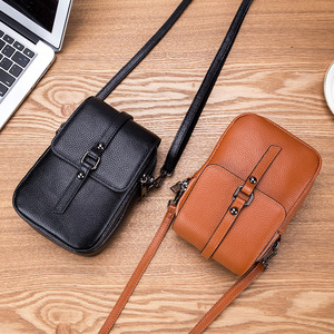 Image 4 - Fashion Mobile Phone Bag Small Clutches Shoulder Bag Genuine Leather Women Mini Handbag High Quality Purse Flap Cross body Bags