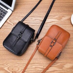 Image 4 - Moda torba na telefon komórkowy małe sprzęgła torba na ramię prawdziwej skóry kobiet mini torebka wysokiej jakości torebka Flap torby piersiowe