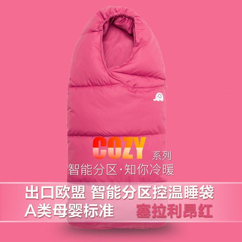 Зимняя утолщенная детская спальная сумка для детей от 0 до 24 месяцев, детская теплая зимняя сумка для коляски, плотные теплые спальные мешки для младенцев - Цвет: red