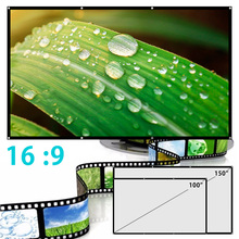 High Brightness Reflective Projector Screen 100 150 inch 16:9 Fabric Cloth Projection Screen Home Outdoor Office 3D HD Projector