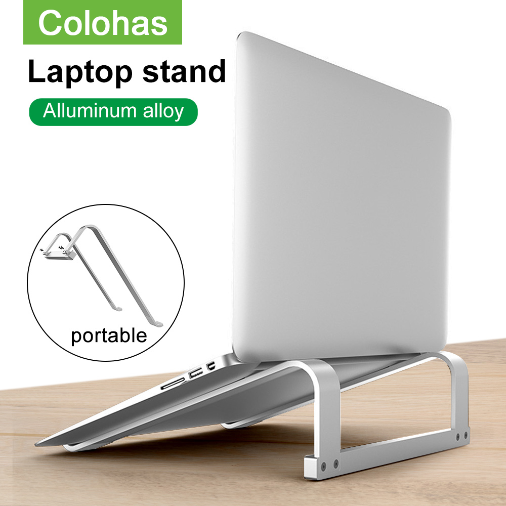 Adjustable Aluminum Laptop Stand Portable Notebook Support Holder For Macbook Pro Computer Riser Stand Cooling Bracket