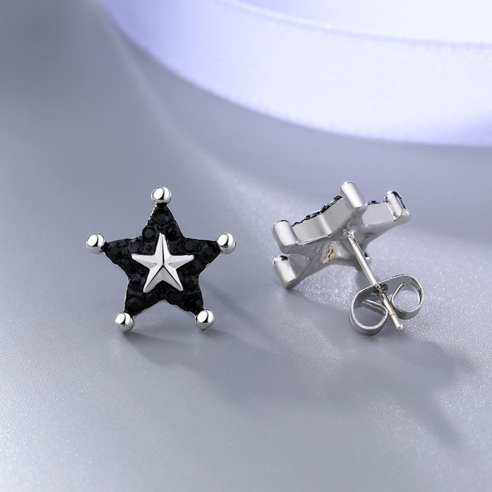 Купить модные серьги гвоздики со звездами модные женские из латуни