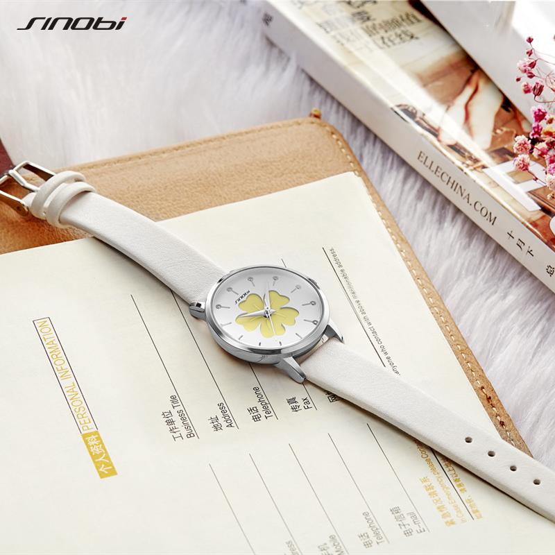 Sinobi beleza flor design mulher relógios marca superior pulseira branca mulher quartzo relógios de pulso elegante moda feminina aaaaa 19