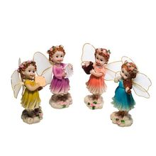 Set of 4 Garden Fairies Miniature Accessories for Decoration Children Toys