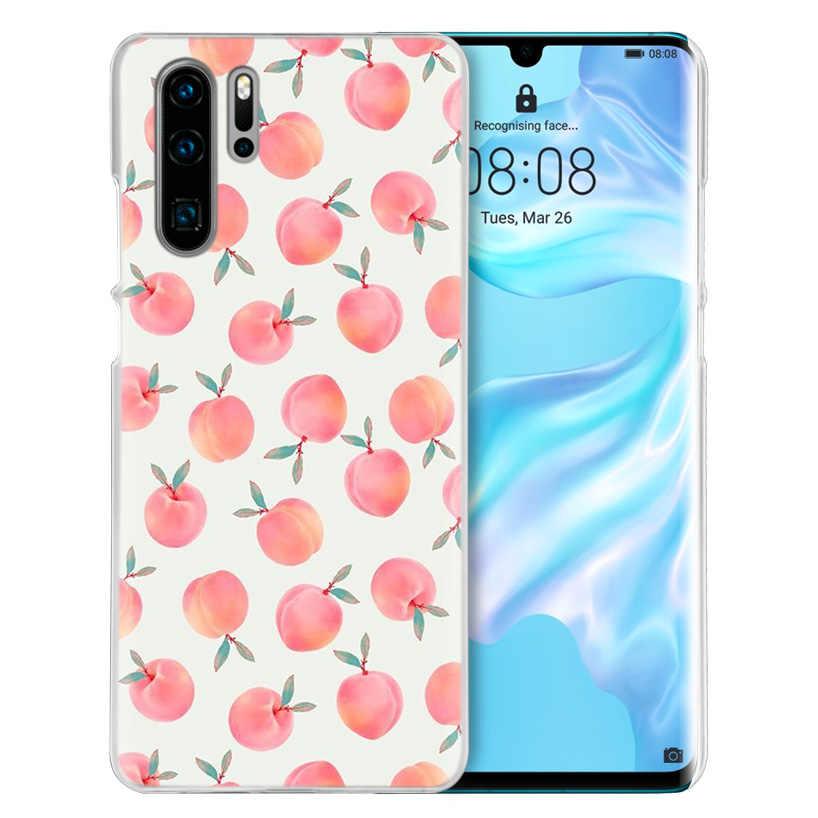 Peach Blossom Case for Huawei P20 P Smart Z Plus 2019 Nova 5 5i P30 P10 P9 P8 Mate 10 20 30 Lite Pro Hard PC Fruits Phone Cover