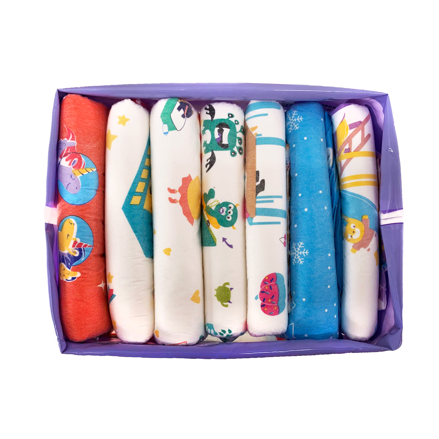 TEN@NIGHT Rainbow Weekly Diaper ABDL Extra Large Size Adult Diaper Stretchy Waist DDLG Diaper Dummy Dom Different 7pcs In A Pack