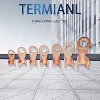 Terminal ot series 10/20/30/40/50/60/100/150/200a fio de emenda diâmetro cobre o forma circular nu cabo de bateria conector talão aberto