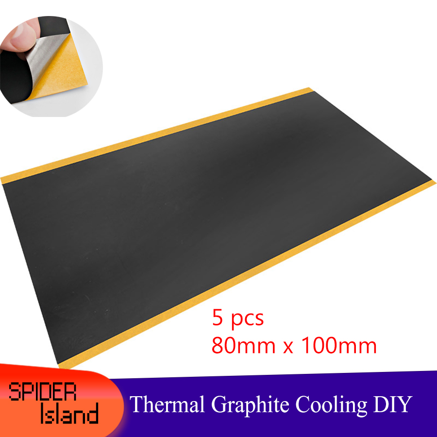 80*100*0.025mm Thermal Conductivity Material Natural Graphite Film Paste Graphite Sheet Graphite Cooling Film