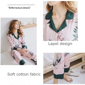 Image 3 - JULYS SONG  Woman Fashion Printing Pajamas Cotton Womens Trousers Pajamas Set Casual Large Size Soft Floral Sleepwear Suit