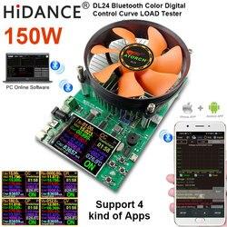 """DL24/P kolor 2.4 """"APP DC USB tester obciążenie 18650 pojemność akumulatora monitor rozładowania ładowania miernik zasilania tester zasilania w Mierniki napięcia od Narzędzia na"""