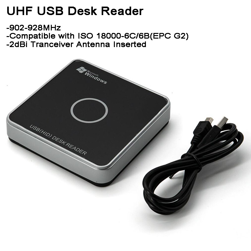 Mini UHF RFID Reader USB For Windows/Linux/Android EPC-global-UHF-Class-1Gen 2/EPC G2 WG26/34 Output Driverfree Car Parking