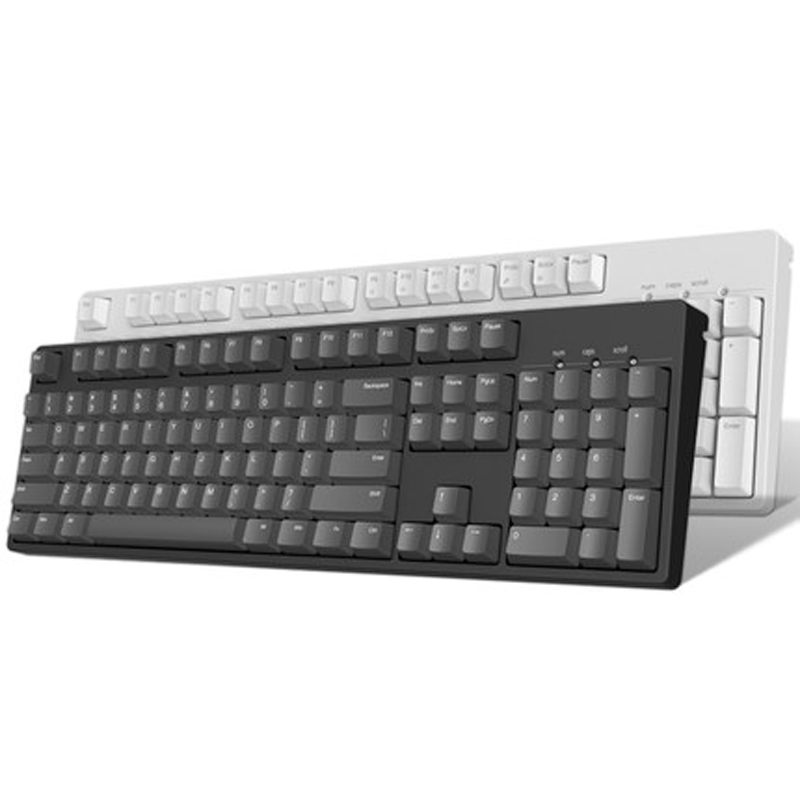 IKBC C104 mechanical keyboard thick PBT <font><b>keycap</b></font> cherry mx switch brown blue full size non-backlit gaming keyboard image