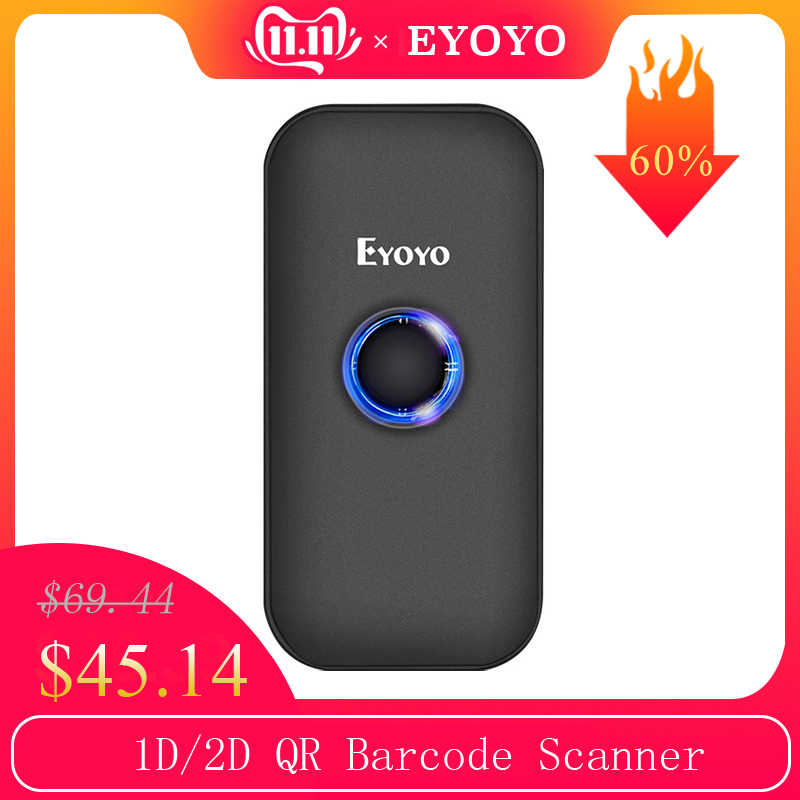 Eyoyo Mini Bluetooth 2D lecteur de codes à barres 2.4G sans fil et Bluetooth lecteur de codes à barres Portable 1D QR Scanner d'images pour IOS Android