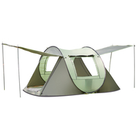 3 4 Person Outdoor Automatic Tents Large Family Tent Rainproof Waterproof Camping Hiking Sunscreen Speed OpenTent