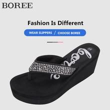 Slipper Beach Sandals Wedges Platform Woman Shoes Crystal Pantuflas Ladies Slides Summer Women