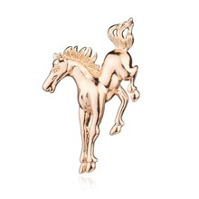 Gariton Gold Silver High Quality Bouncing Horse Brooch Zinc Alloy Pin Suit Accessories Wholesale