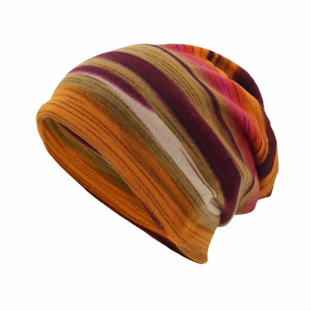 للجنسين النساء قبعة الرجال قبعة الخريف الشتاء الدافئة قبعة شريط طباعة وشاح قبعة قبعة Casaul في الهواء الطلق للتحويل يندبروف قبعة # L20