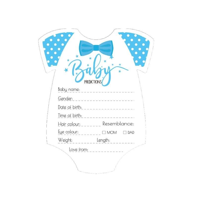 1Pc 10 Pack conseils et cartes de prédiction pour bébé douche jeu genre neutre garçon fille chaude