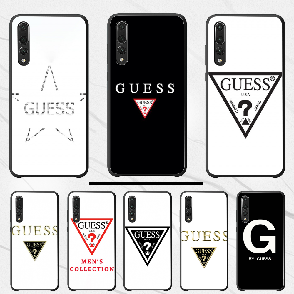 For <font><b>Huawei</b></font> <font><b>P10</b></font> Luxury Unique Design Phone Cover by guess For <font><b>Huawei</b></font> <font><b>P10</b></font> 20 pro lite plus 30 2019 P8 P7 2017 2016 PSMART 2019 image