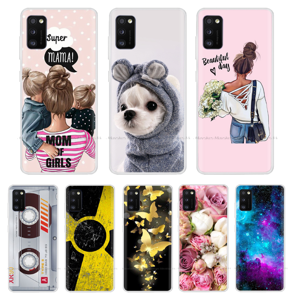 Painted Phone Case For Samsung A41 Case Soft TPU Silicone Back Cover Coque For Samsung Galaxy A41 A51 A71 A50 Cases Cover Shell