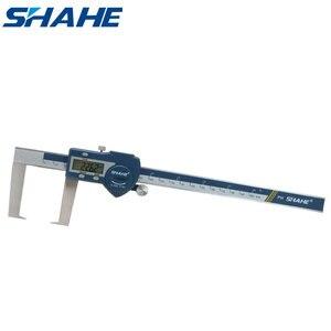 Shahe 0-200 мм Цифровой наружный штангенциркуль для измерения пазов с плоскими точками из нержавеющей стали электронный цифровой штангенциркул...