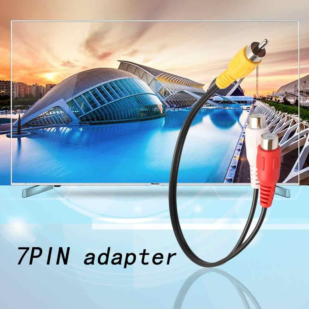 Practical Audio Video Cable RCA Splitter RCA Male Connectors to 2RCA Female Stereo Plug Adapter Audio Cable Cord