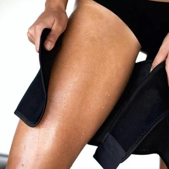 2pcs Fitness Leggings Belt Leg Shaper Sauna Sweat Thigh Trimmers Calories off Slimming Legs Fat Thermo Neoprene Compress Belt 4