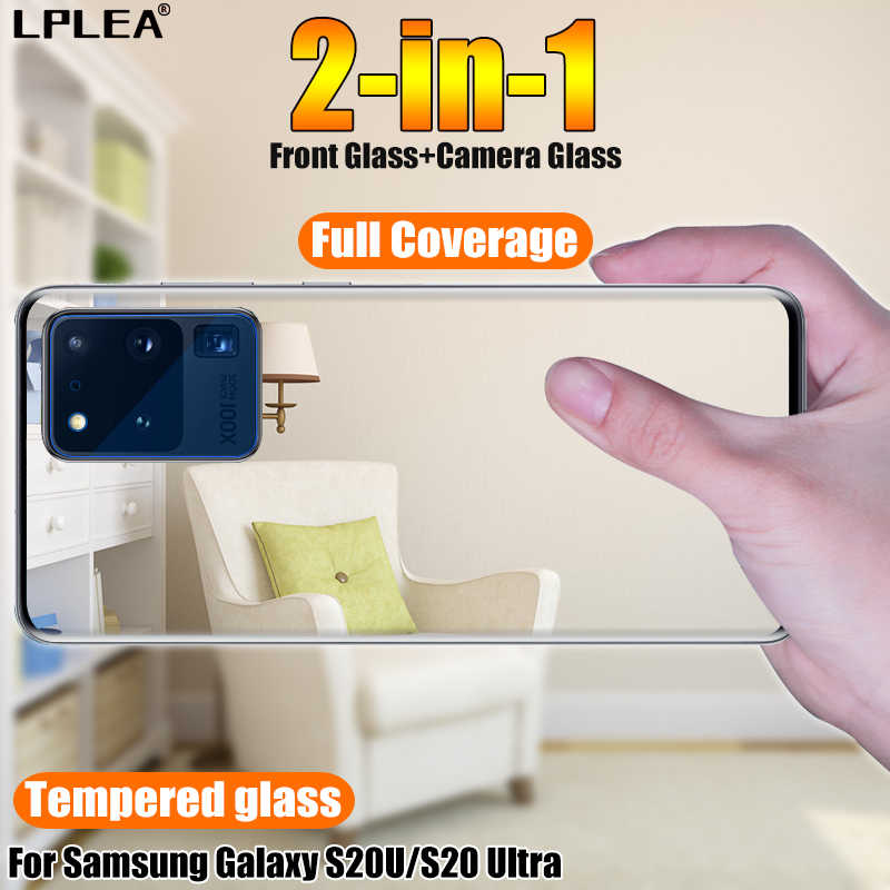 Gebogen Gehard Glas Voor Samsung Galaxy S20U Camera Glas S20 Plus Ultra Screen Protector Voor A51 A71 A01 A81 A91 note 10 Lite