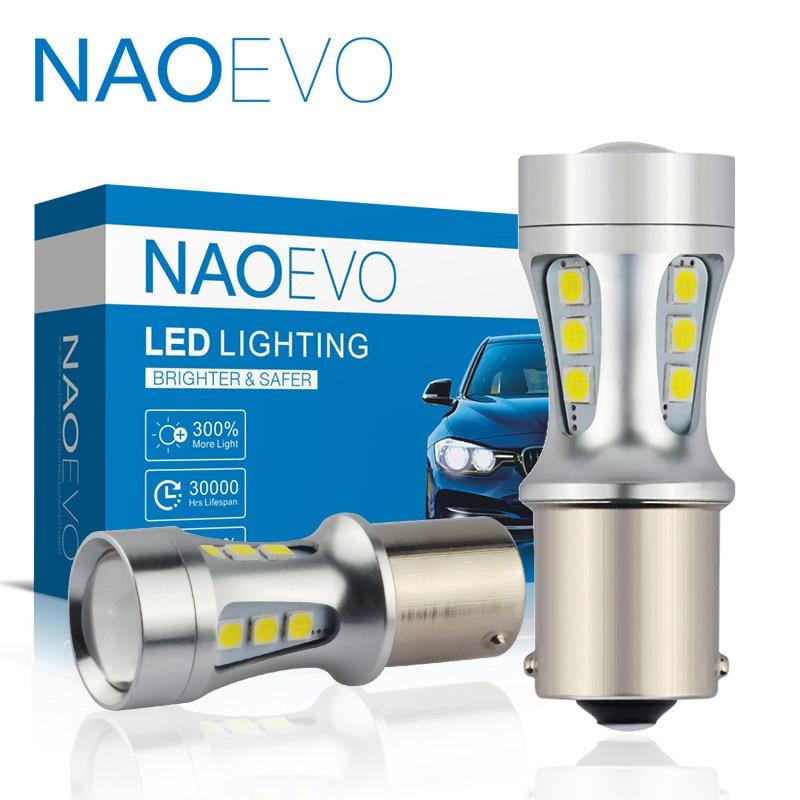 NAOEVO P21W LED Car W16W PY21W T20 BA15S T15 W21/5W 1300Lm BAY15D 1157 W21W BAU15S 7443 For Lada DRL Blub P21/5W 1156 3030 7440