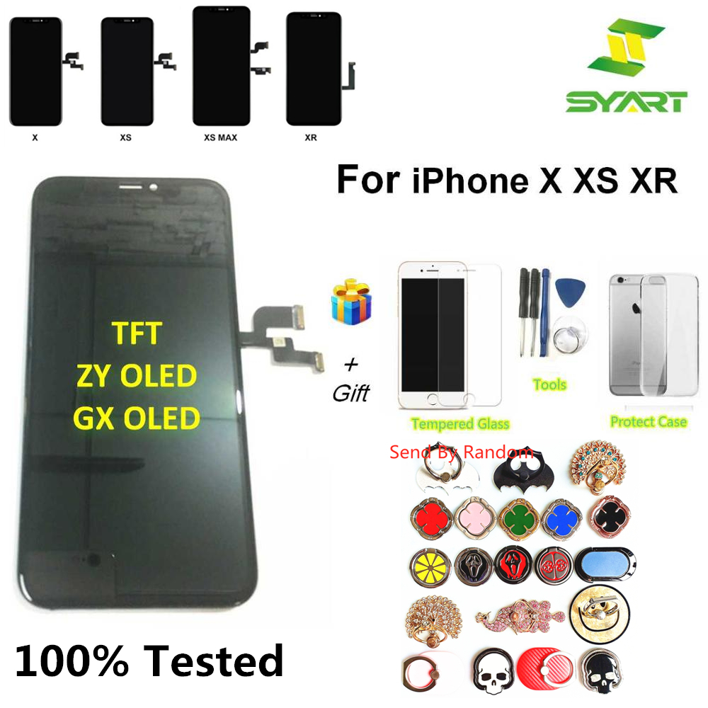100% Tested TFT ZY OLED GX OLED LCD Display For IphoneX Touch Screen Digitizer Assembly Replacement Part For Iphone X XR XS LCDs