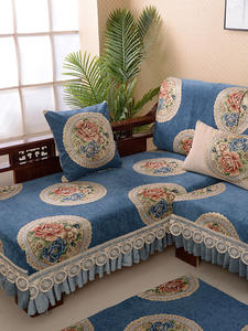 Couch-Covers Chaise Lounge Stretch Jacquard Elastic-Corner Living-Room L-Shaped Sectional