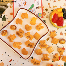 Huanchi 2020 Japón nuevos encantadores perros oso Animal de imitación de galletas broche bolsa de dibujos animados abrigos accesorios para niños niñas