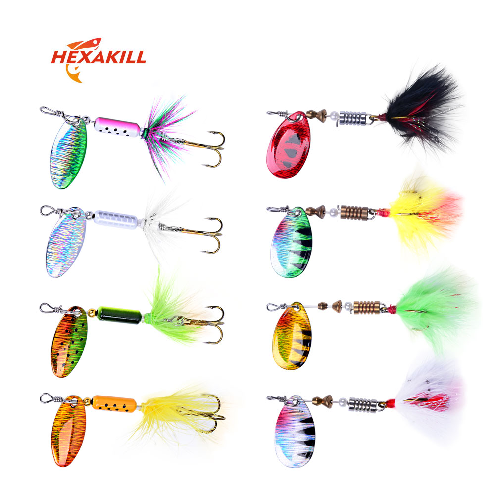 Hexakill 1Pcs 4g 6g Spinner Spoon Metal Bait  Fishing Lure Wobblers CrankBaits Jig Shone Metal Sequin Trout  Metal Jigging Lure