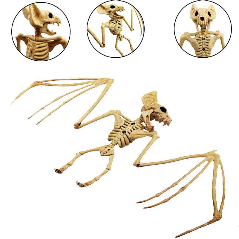 2019 Halloween Animals Skeleton Model Bone Art Craft Rat Fish Bat Spider Scorpion Bones For Halloween Party Desktop Decoration
