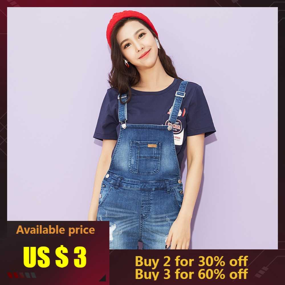 Metersbonwe Strap jeans Female Occident Denim Shorts 2019 New Summer Trendy Casual High Waist Shorts Fashion Brand Short Pants