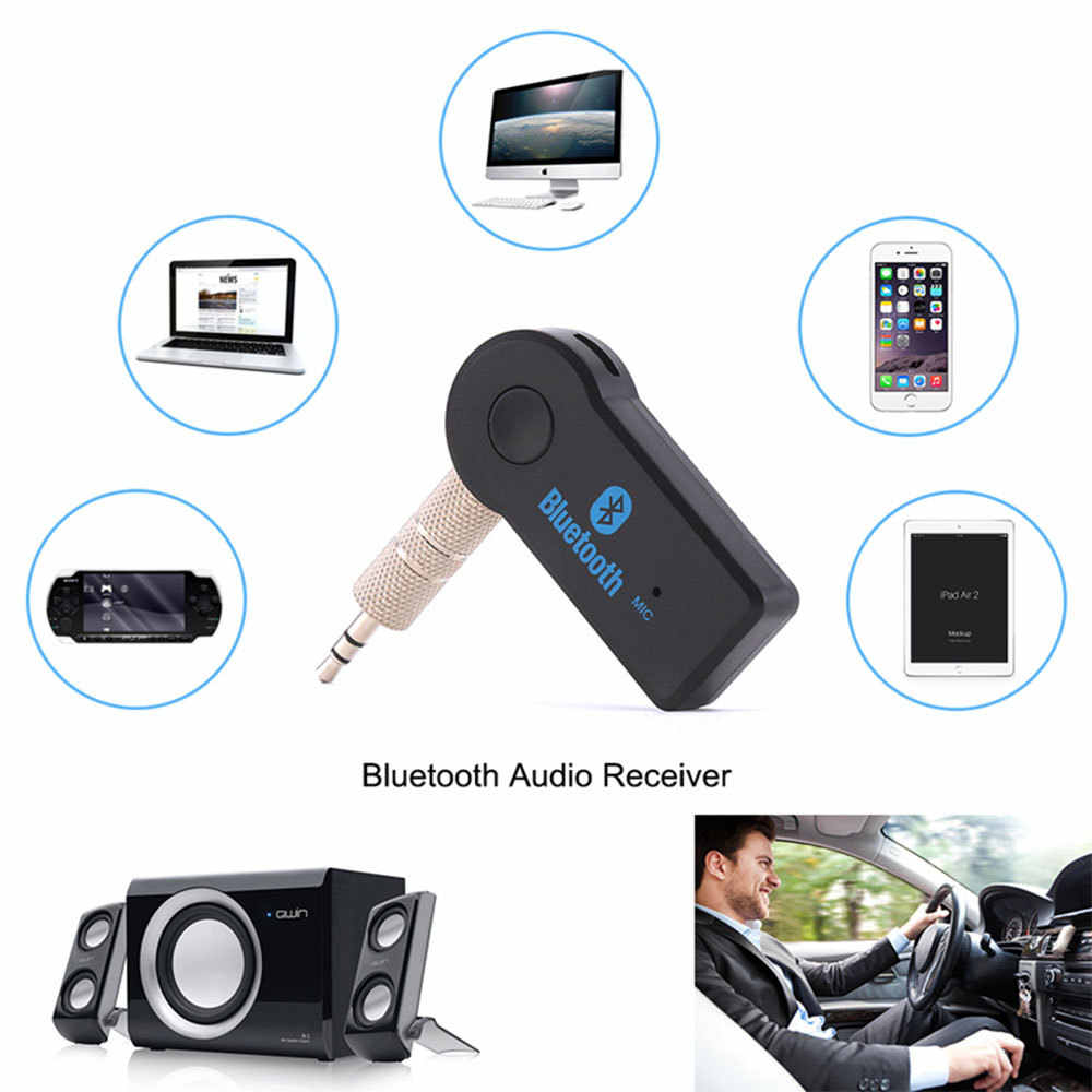Wireless Bluetooth Receiver Transmitter Adapter 3.5mm Jack For Car Music Audio Aux A2dp For Headphone Reciever Handsfree