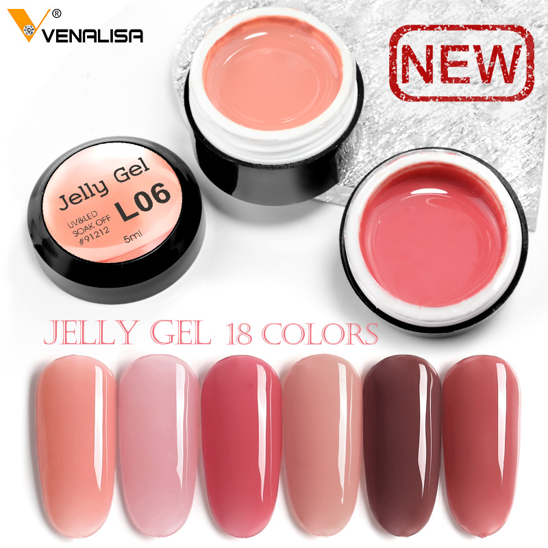 Venalisa Opal UV Gel 5ml Camouflage Natural Color Jelly Acrylic French Nails Art Gel Polish Crystal Nails UV Jelly Gel Varnishes
