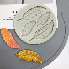 Birds Feather Sugar Buttons Silicone Mold DIY Fondant Cake Decorating Tools Chocolate Gumpaste Lace border Mold Baking Utensils