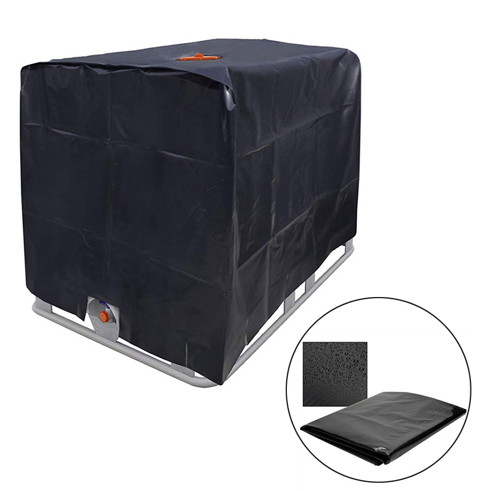Cover protective hood for rain water tank 1000 liters IBC container foil cover