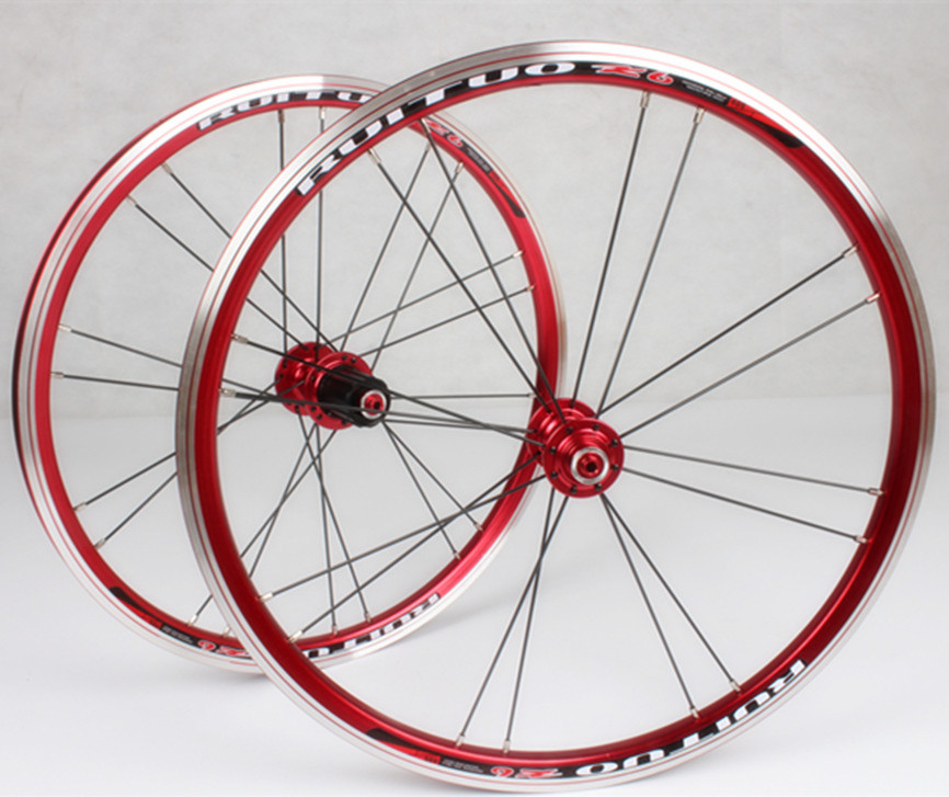 <font><b>RT</b></font> Folding Bike BMX 20inch 1-3/8 V Disc Brake 406 451 <font><b>Wheelset</b></font> Front 2 Rear 5 Sealed Bearing Alloy Rim 74/130 100/135 Wheels image