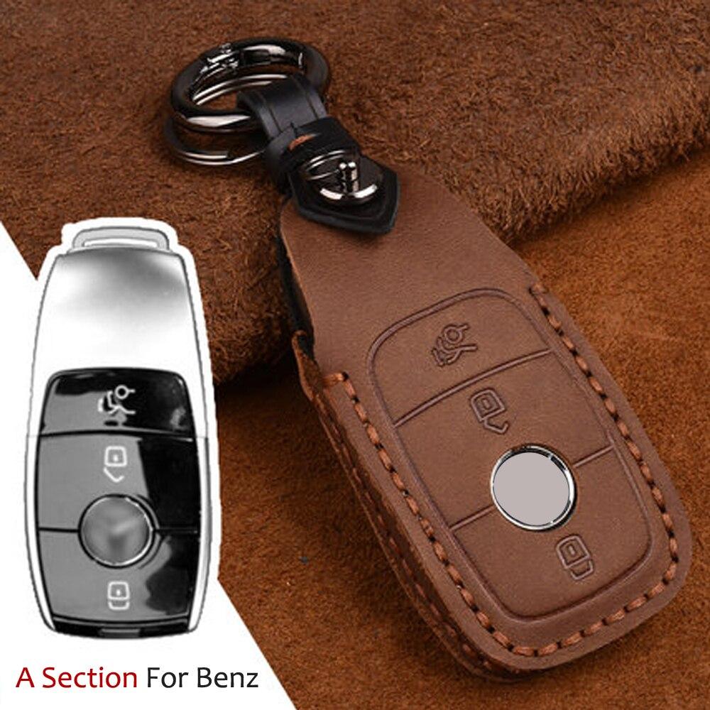 Car Repair Skin key case bag cover Remote 3 Button For Mercedes Benz AMG 2017 W205 C200 C180 C260 C300 E300 E200 E260 key House
