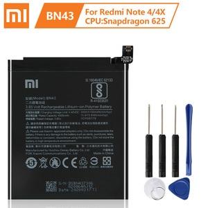 Image 5 - Оригинальный аккумулятор XaioMi BN34 BM46 BN41 BN43 для XiaoMi Redmi Note 3 Pro RedMi Note3 RedMi Note4 RedMi Note4X 100% оригинальный