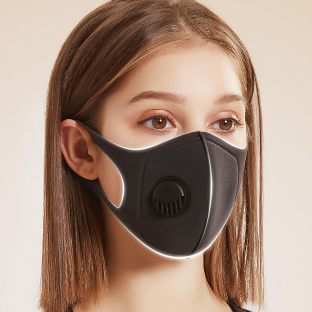 1PC korean Anti Dust Mask PM2.5 Activated Filter Mouth Mask Reusable Cover Anti Fog Haze Respirator Windproof bacteria proof Flu 2