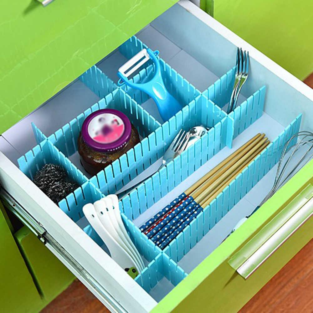 Drawer Dividers Drawer Divider Organizers 4PCS DIY Plastic Grid Adjustable  Divider Household Storage Socks Underwear Organizer    - AliExpress