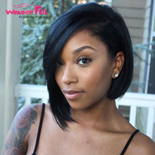 Wonderful Human Hair Wig Ombre Short Bob Wig Remy Brazilian Straight Hair 150% Density Ombre Color Human Hair Wigs For Women