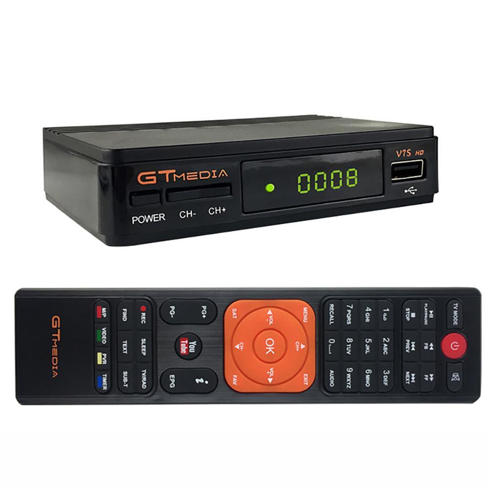 Heißer DVB-S2 GTMedia V7S HD Satellite Empfänger 1080p Super Decoder für Spanien TV Box Rezeptor Youtube GT Media Freesat v7