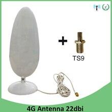 3G 4G LTE אנטנת 22dbi SMA זכר TS9 מחבר 2.8M כבל wifi אנטנה עבור Huawei 3G 4G LTE מודם נתב antena antenne